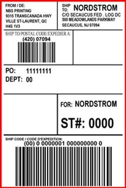 NORDSTROM - LABEL - 4 X 6