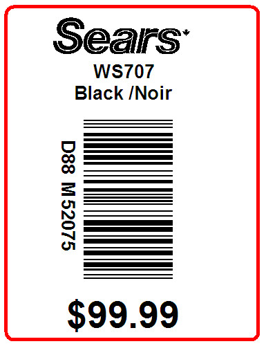 SEARS JESSICA LABELS - LABEL - 2 x 1.5