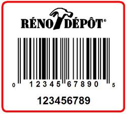 RENO DEPOT - LABEL - 1.25 X 1.125