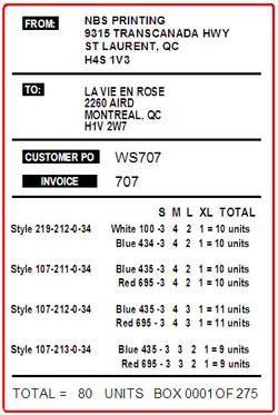 LA VIE EN ROSE - LABEL - 4 X 6