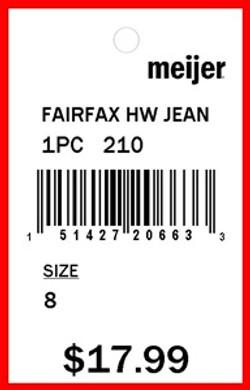 MEIJER - TAG - 1.5 X 2