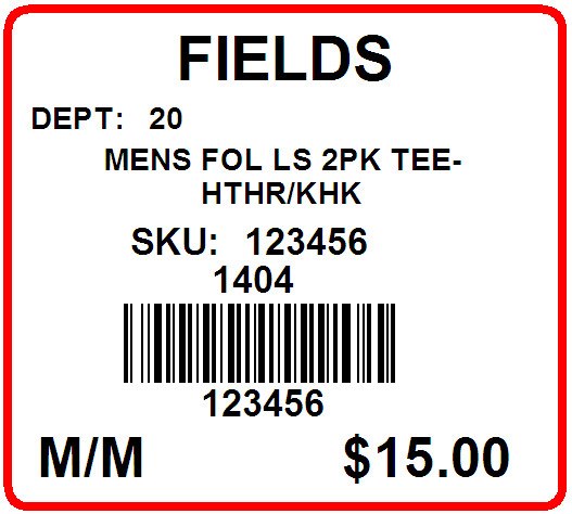 FIELDS - LABEL - 1.25 X 1.125
