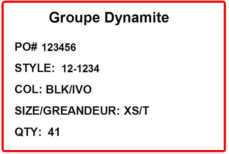 DYNAMITE - LABEL 2 - 4 X 6