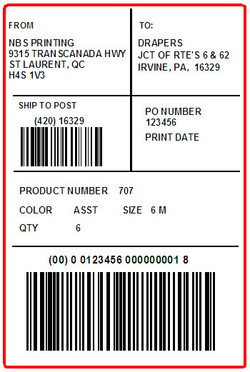ORCHARD BRANDS - DRAPERS - LABEL - 4 X 6