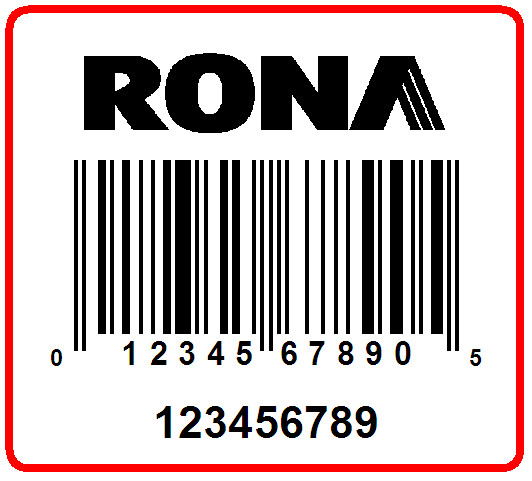 RONA - LABEL - 1.25 X 1.125