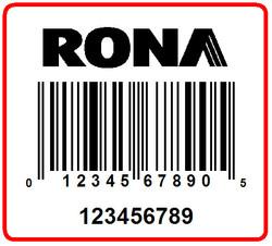 RONA - LABEL - 1.25 X 1.125