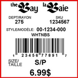 THE BAY - LABEL - 1.5 X 1.5