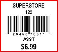 SUPERSTORE - LABEL - 1.25 X 1.125