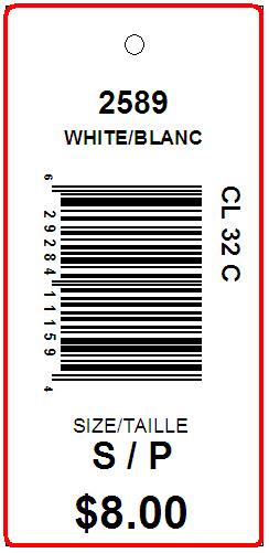 LILIANNE - TAG - 2.625 X 1.25