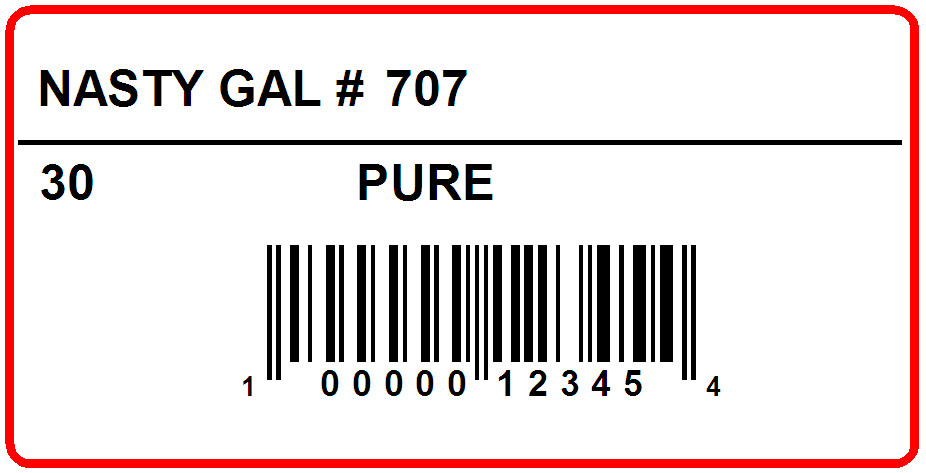 NASTY GAL - LABEL - 2 X 1