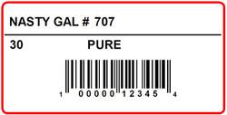 NASTY GAL - LABEL - 2 X 1