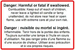 WARNNING LABEL - LABEL - 3 x 2