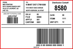 KMART - LABEL - 4 X 6- 3