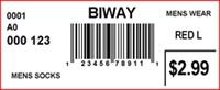 BIWAY - LABEL - 2.5 X 1