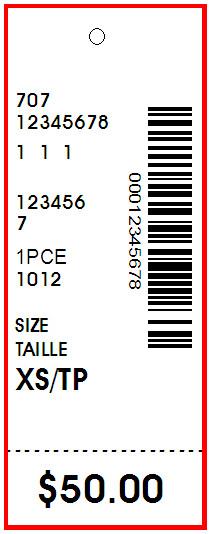 REITMANS - TAG - 1.25 X 3