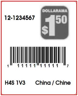 DOLLARAMA - LABEL - 1.3 X 1.6