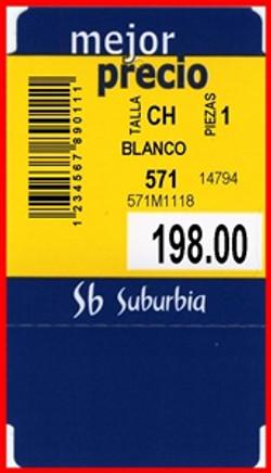SUBURBIA - TAG - 1.75 X 3.125