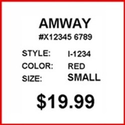 AMWAY - LABEL - 1.25 X 1.125