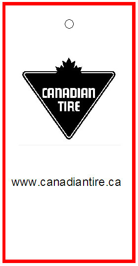 CANADIAN TIRE - TAG - 1.5 x 3 BACK