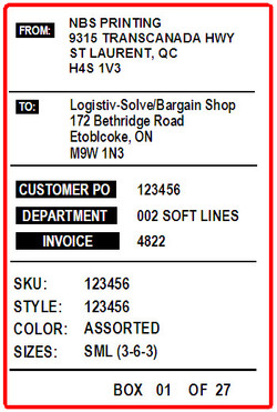 RED APPLE SHIPPING LABEL - LABEL - 4 x 6