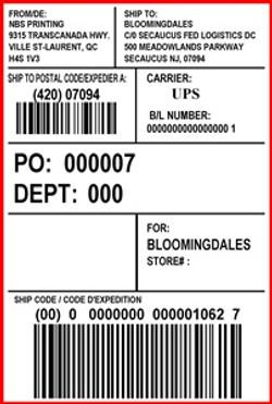 BLOOMINGDALES - LABEL - 4 X 6