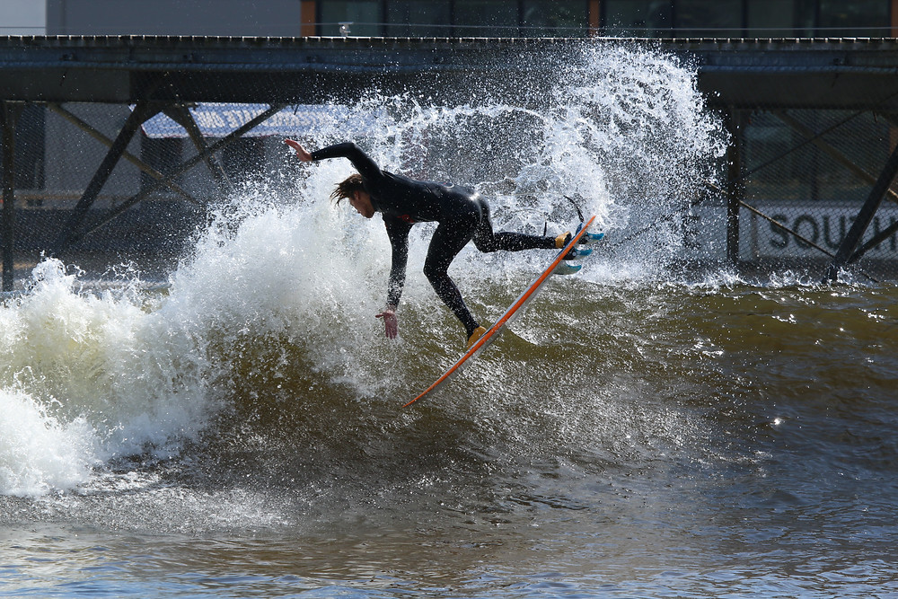 Surfer, air reverse, wave, pool, snowdonia, surfing, surf, puravida, surfboards