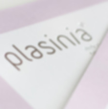 A Logo Printed on Textured Paper | Plasinia