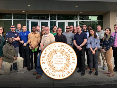 Syracuse University Veteran students visit West Coast ViacomCBS Veterans Network