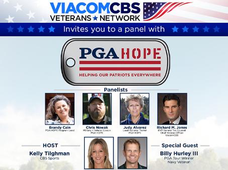 ViacomCBS Veterans Network Hosts a Virtual Panel with PGA HOPE