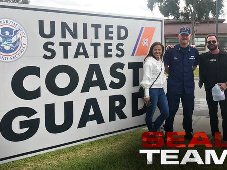 Toni Trucks and Judd Lormand, from CBS Seal Team visit Coast Guard