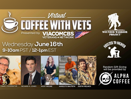 2nd Virtual Coffee With Vets Hosted by ViacomCBS Veterans Network