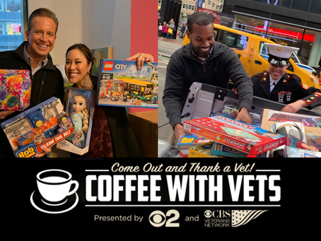 CBS Veterans Network hosts 6th Coffee with Veterans in New York City
