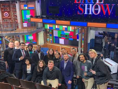 ViacomCBS Veterans Network and The New School Veteran Students attend a taping of The Late Show