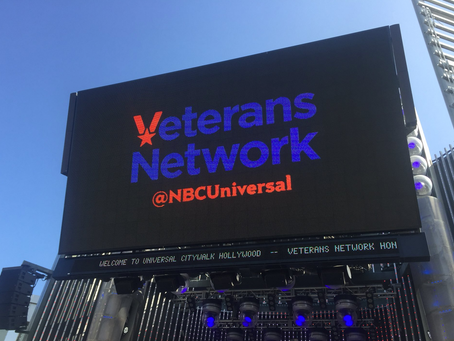 Color Guard presentation hosted at NBC Universal