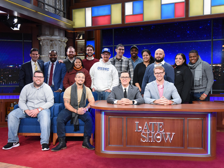 American Corporate Partners (ACP) attend a taping of The Late Show with Stephen Colbert
