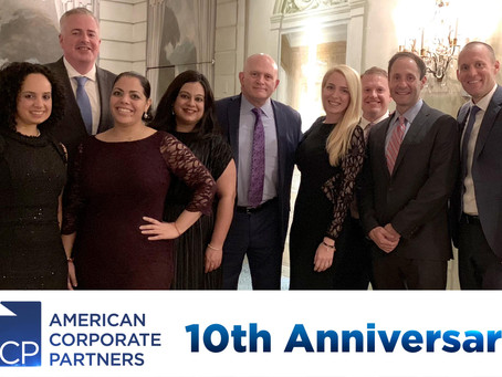 CBS employees attended a dinner celebrating the 10th anniversary of American Corporate Partners