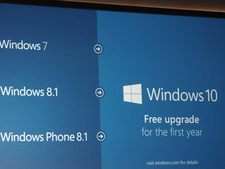 Windows 10 will be a free upgrade for Windows 7 and Windows 8.1 users.