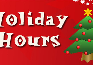 Holiday Hours Through 2017