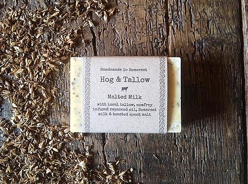 Malted Milk - A soap with Devon spent malt grain and Dorset milk
