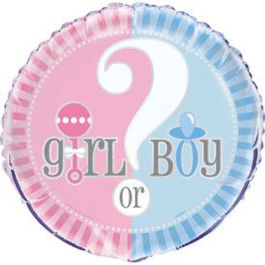 "Balloon Foil 18"" Girl Or Boy"