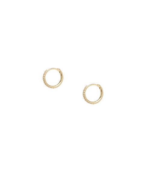 Petite Diamond Hoops, Huggie Earrings