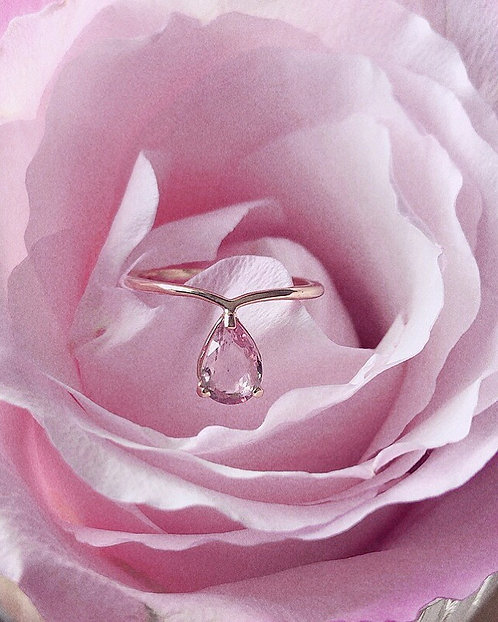 Sakura Ring, Pink Sapphire