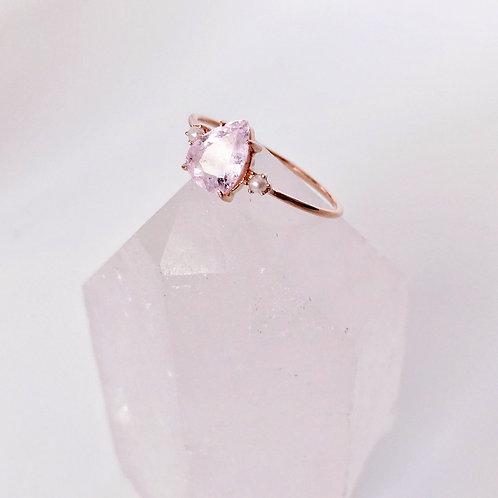 Rosalie Ring, Morganite & Pearls