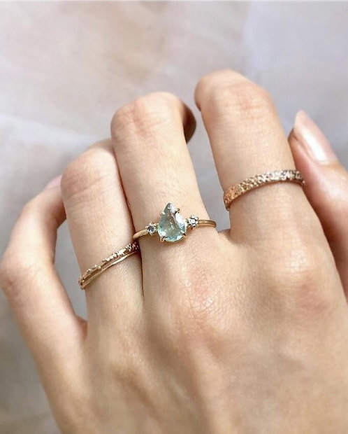 Calypso Ring, Paraiba Tourmaline & Blue Sapphires