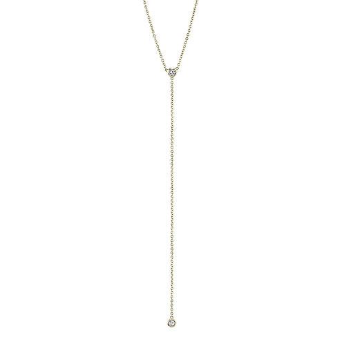 Plural Diamond Drop Necklace