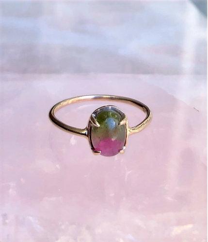 Nectar Ring, Watermelon Tourmaline