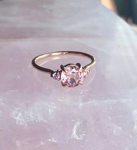 Ambrosia Ring, Peach & Pink Sapphires