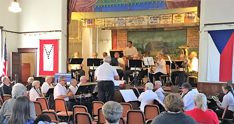 2016 Albert Lea Band at the Historic Brick Hall near Hayward, MN