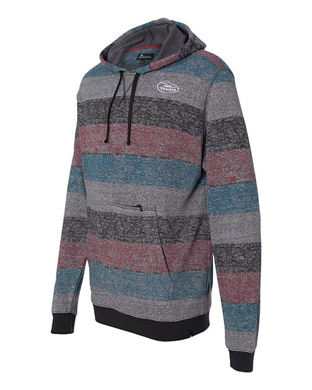 Red Striped Pullover Sweatshirt