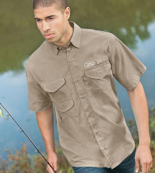 Short Sleeve Fishing Shirt with Fish